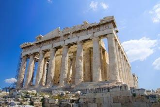 Die Akropolis von Athen in Griechenland