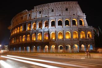 Das berühmte Kolosseum in Rom