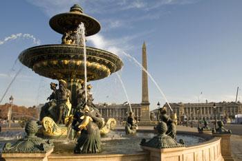 Der Place de la Concorde in Paris
