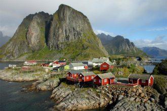 Fischerort in den Lofoten